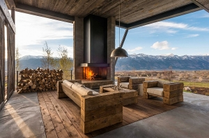 Gorgeous-fireplace-for-the-open-entry-room-with-mountain-views