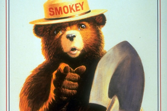 Poster of Smokey the Bear w. Smokey hold